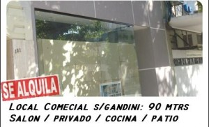 Alquilo Local Comercial 90 mts2
